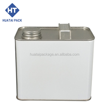 2.5L square paint can, with plastic spout can, F-Style tin can.