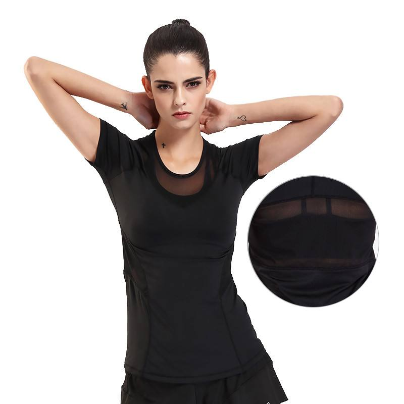 High quality Summer Lady Sports Tops Gym Yoga Women Sports T-Shirts