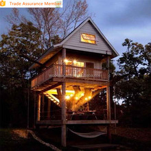 2015 popular wooden tree house with cheap price