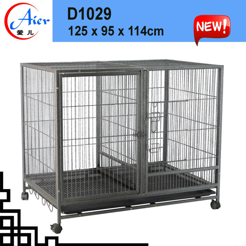 double pet house collapsible dog cage