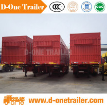 53 Foot 3 Axle Fiberglass Enclosed Cargo Box Semi Trailer For Sale