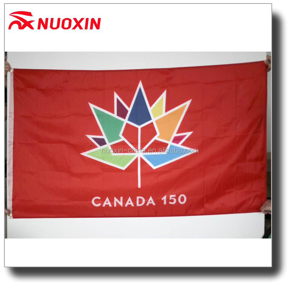 NX FLAGS 3x5ft polyester printed canada 150 celebration flag