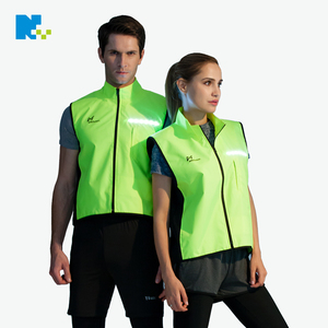 LED reflective sleeveless vest for night running and cycling