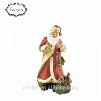 New product 2019 resin santa claus statues for christmas decoration gifts