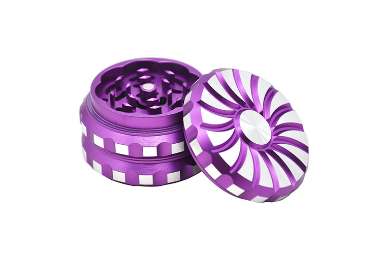 T-089GA Lvhe 60MM 3 Parts Aluminum Custom Logo Herb Grinder For Weed