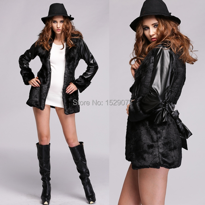 Crazy Discount Women Faux Fur Coat Winter Long Jacket Long