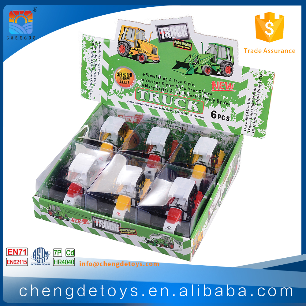6 PCS Farm Tractor Toys Models For Kids Car Mini Tractor Toys With Friction Motor