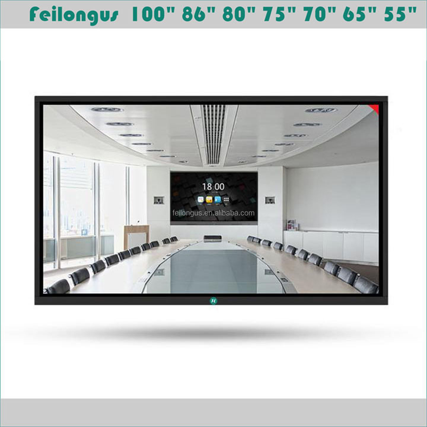 86 Inch Ultra HD 4 K LED Interactieve Touch Screen Monitor LED Smart Board TV Met PC Alles In Een