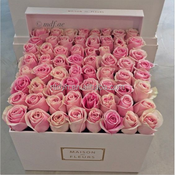 High Quality customized luxury print flower paper gift box