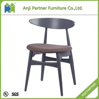 brown color modern designs best selling beech wood chair with PU seat(Gail)