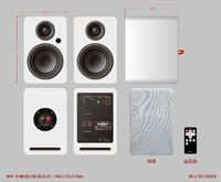 mini projector powered speaker T50 for home theater music system