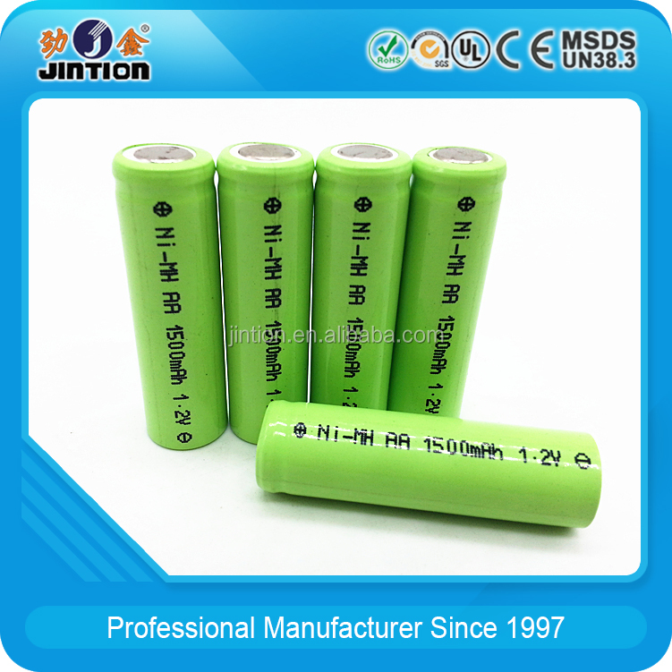 Nickel Metal Hydride AA 1500mAh 1.2v rechargeable battery cell