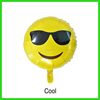 New love kiss wink cool emoji balloon