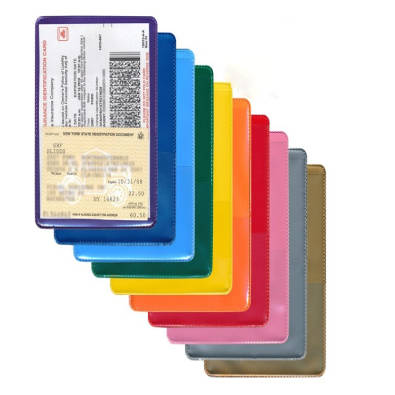 Oempromo clear soft plastic id insurance card holder