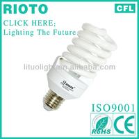 china whole E27 base T3 10mm 23W full spiral electricity saving grow light