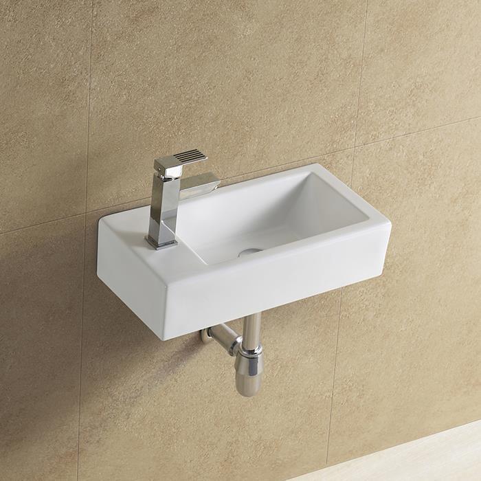 Narrow Bathroom Wall Storage: Rectangular Wall Mounted Narrow Sink, View Narrow Sink