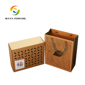 OEM Production 100% eco-friendly material Cooked food Package Brown Breathable Brown Kraft Paper Box