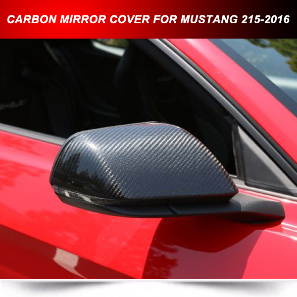 CARBON ADD ON SIDE MIRROR COVER SHELL FOR FORD MUSTANG 2015-2016