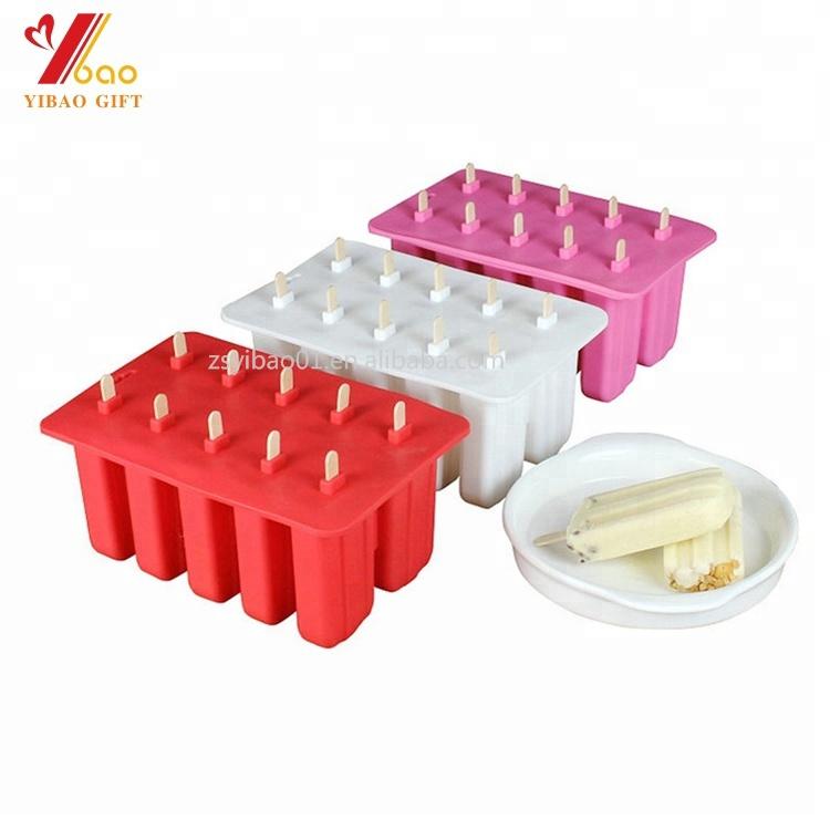 Food Grade Silicone Ice Cream Molde É Usado Para Fazer Sorvete