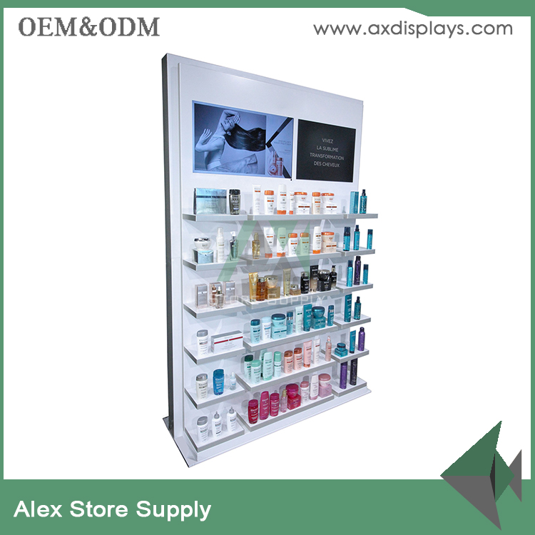 Beauty retail furniture skin care display shelf beauty shop store displays