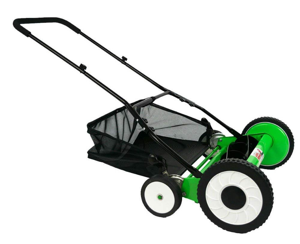 DS2000LD 20-Inch 5-Blade Height Adjusting Push Reel Mower Lawn Demon