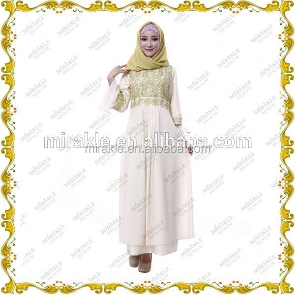 Girls abayaMF19572 New muslim fashion kaftan & top lacefashion dresses for womenarab thobe