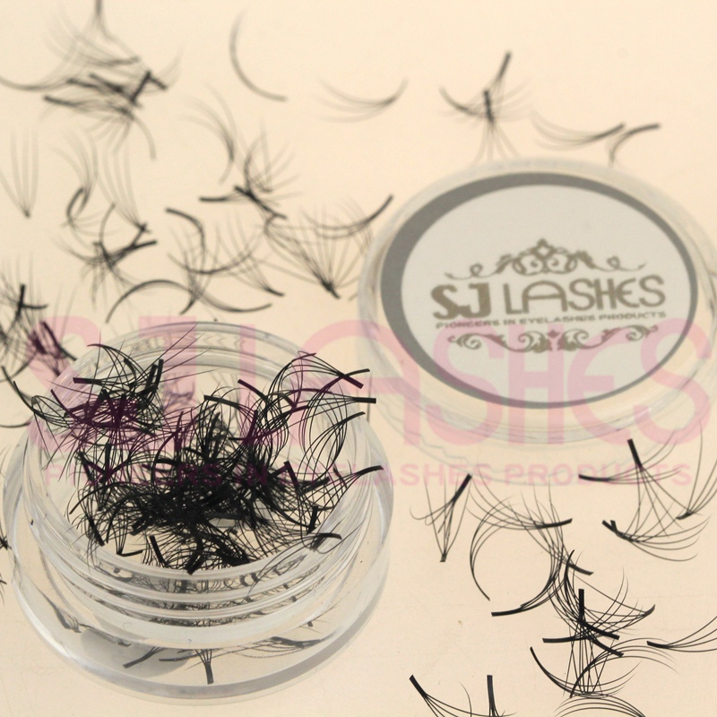 Russische Volume Lashes Premade Volume Lash Fans Synthetische Wimpern Private Label