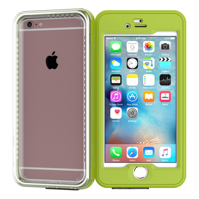 2016 new design plastic + tpu soft waterproof phone bag case for iPhone 6,6Plus