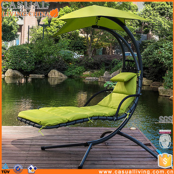Merveilleux Hanging Chaise Lounger Chair Arc Stand Air Porch Swing Hammock Chair Canopy