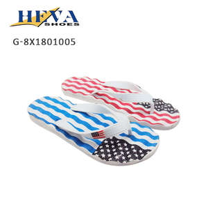 2018 Men Flip Flop with massage insole in American Flag Design