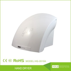 hotel appliances automatic hand dryer, plastic hand dryer china, portable bathroom electric hand dryer