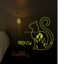 My Cat luminous sticker removable wall stickers kids room porch bedside corner bedroom wall stickers