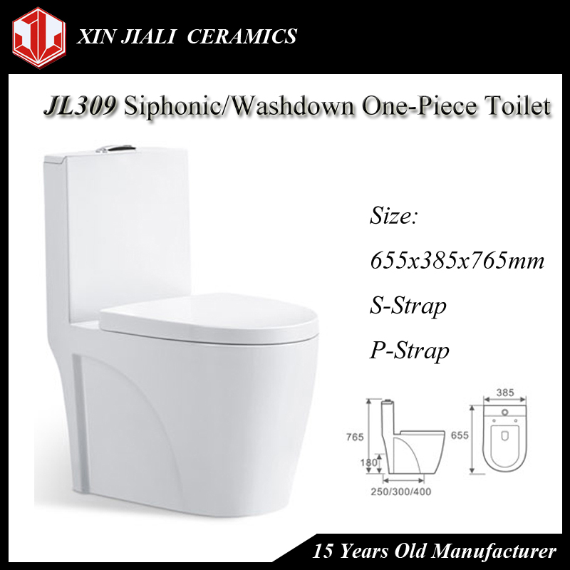 JL309 Siphonic/Washdown One-Piece Saudi Ceramic Water Closet