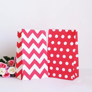 Elegant design new style fancy paper material eco-friendly sos candy paper bags without handle