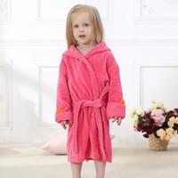 long sleeves cotton 3d hooded childrens bath robe baby bath cloths