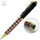 Company Gift Black Color Pu Leather Customised Metal Ball Pen