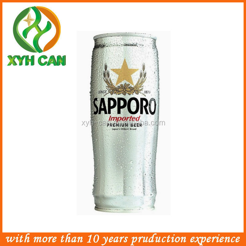 Japan Sapporo Beer Metal Tin Can For China Supplier