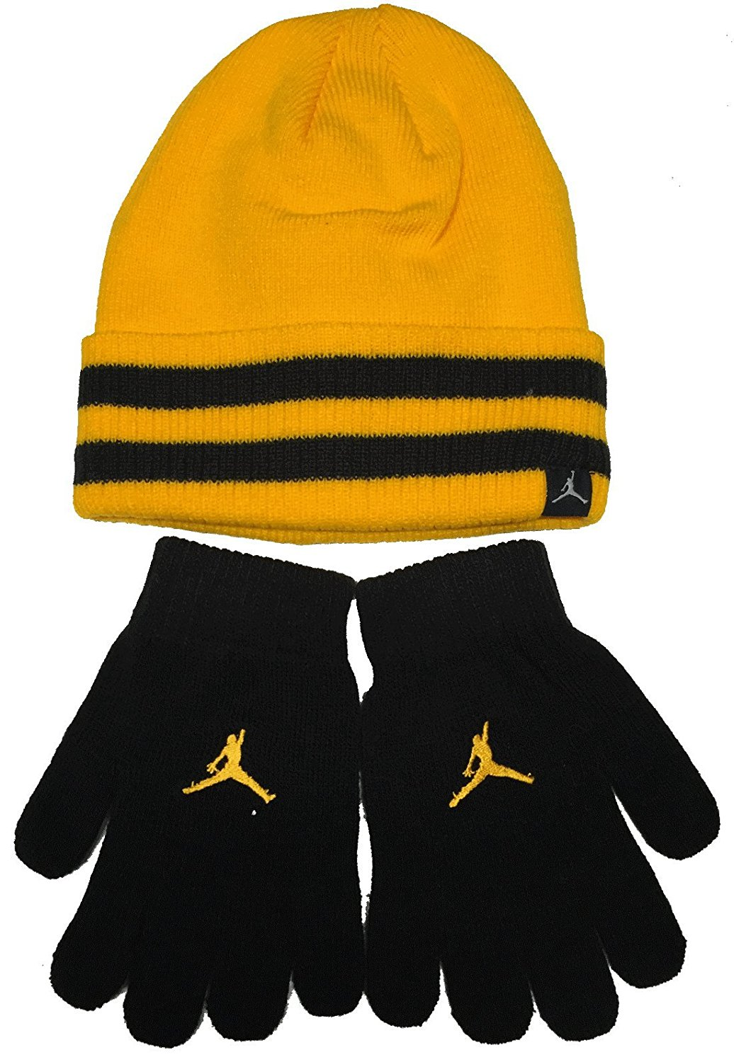 1d9991b5642f Get Quotations · Youth 8 - 20 Nike Jordan Beanie Hat and Gloves Set Boys  Black- Vivid Red
