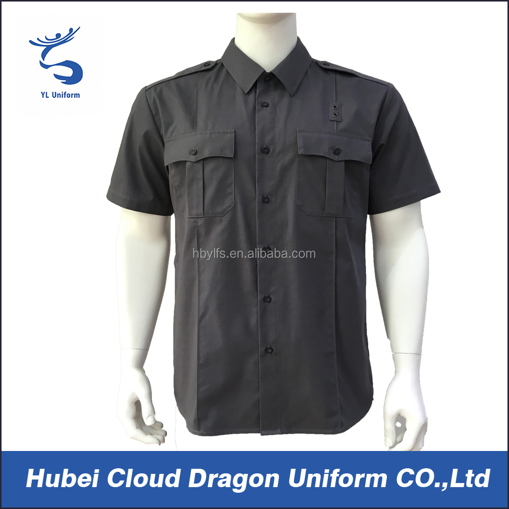 Cheap security dress shirts mens best security clothes for sale