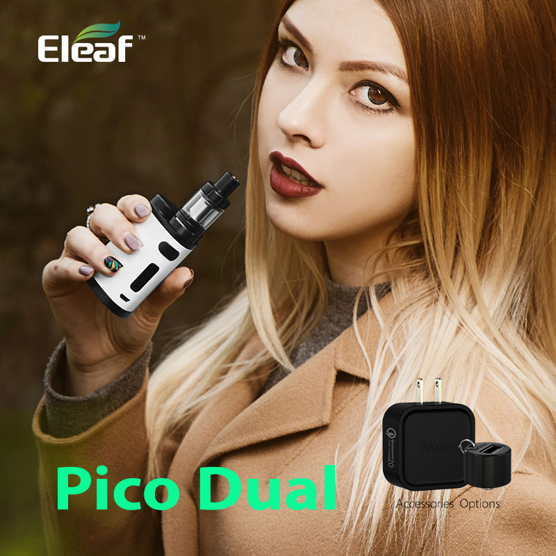 Alibaba Express 200W Eleaf Pico Dual Kit With 2ml Melo 3 mini Tank vape stock news
