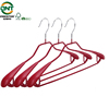 Special PVC coated metal wire hanger wide shoulder metal hanger for clothes