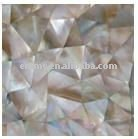 2012 hot sales irregular triangle brownlip mother of pearl seashell mosaic wall tile