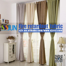 Supply JUN brand permanent flame retardant hotel curtain (flame retardant B1 level), fireproof curtain