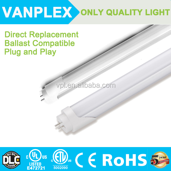 Led tube 4ft 20w,t8 led tube light with 5 years warranty and UL DLC ETL certification made in China