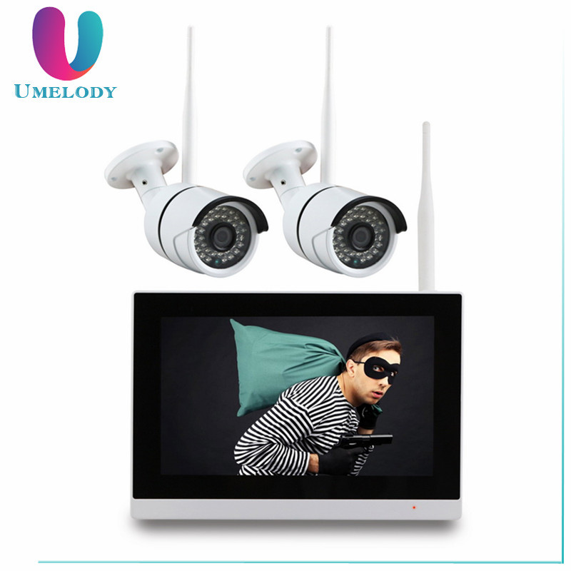Newly 4CH 720P wifi ip Camera 9 inch LCD NVR outdoor wireless home Security Camera System