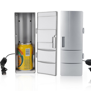 Compact Mini Usb Fridge Freezer Cans Drink Beer Cooler Warmer Travel Car Office Use