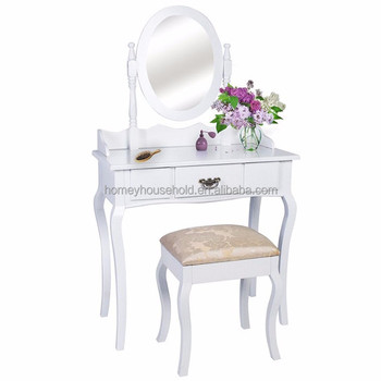 Vintage Hand Painted Console Table With Mirror Bedroom Mirrored
