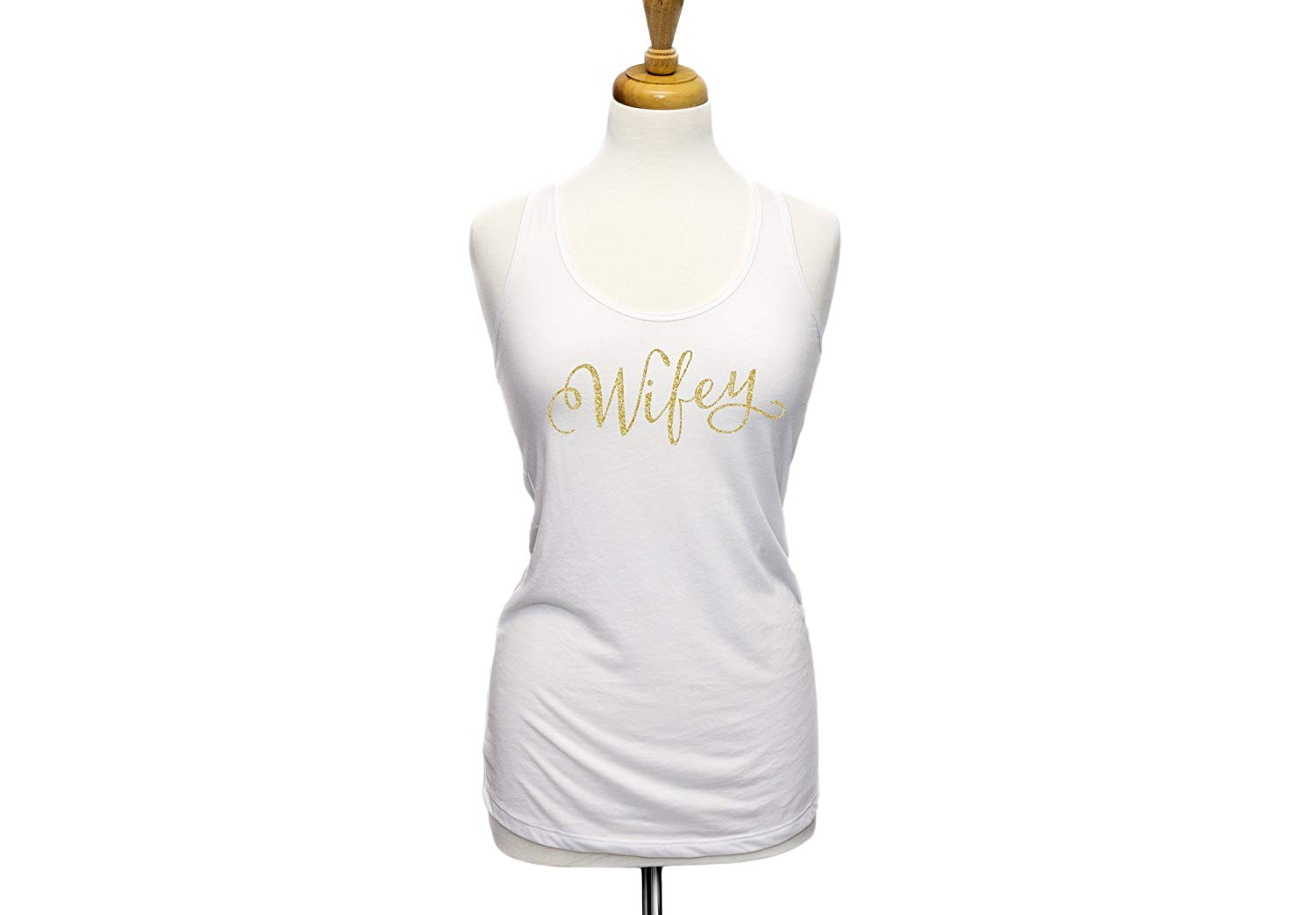 20c40fd730e03 Get Quotations · Wifey Tank Top in GLITTER Tank Top for Wedding or Gift for  Bride