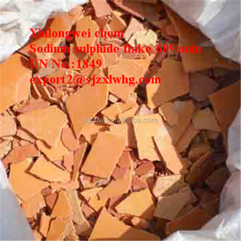 Sodium sulphide flakes yellow flakes red flakes Na2S, HS code: 2830101000
