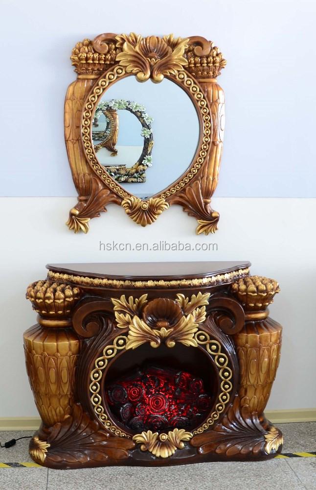 antiguo tipo de muebles para el hogar chimenea elctrica artificial para la decoracin interior y